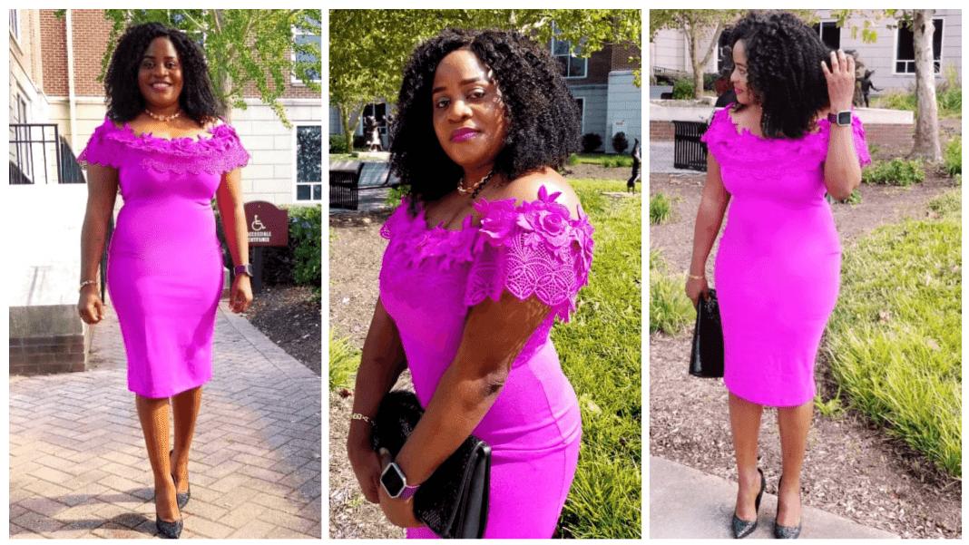 Adeline Ndeme Stunning Pink Dress