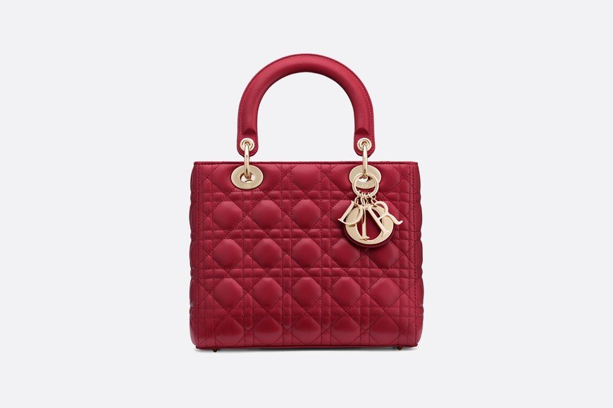 LADY DIOR BAG IN RED LAMBSKIN