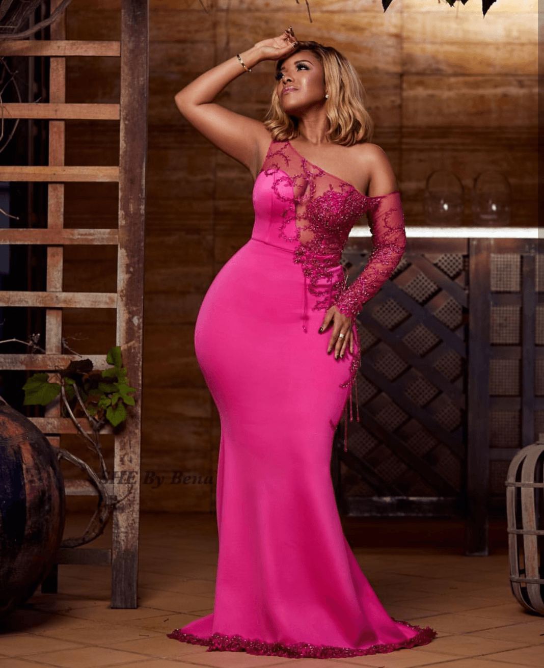 """Joselyn Dumas in SHE By Bena Collection: """"Pink October II"""""""
