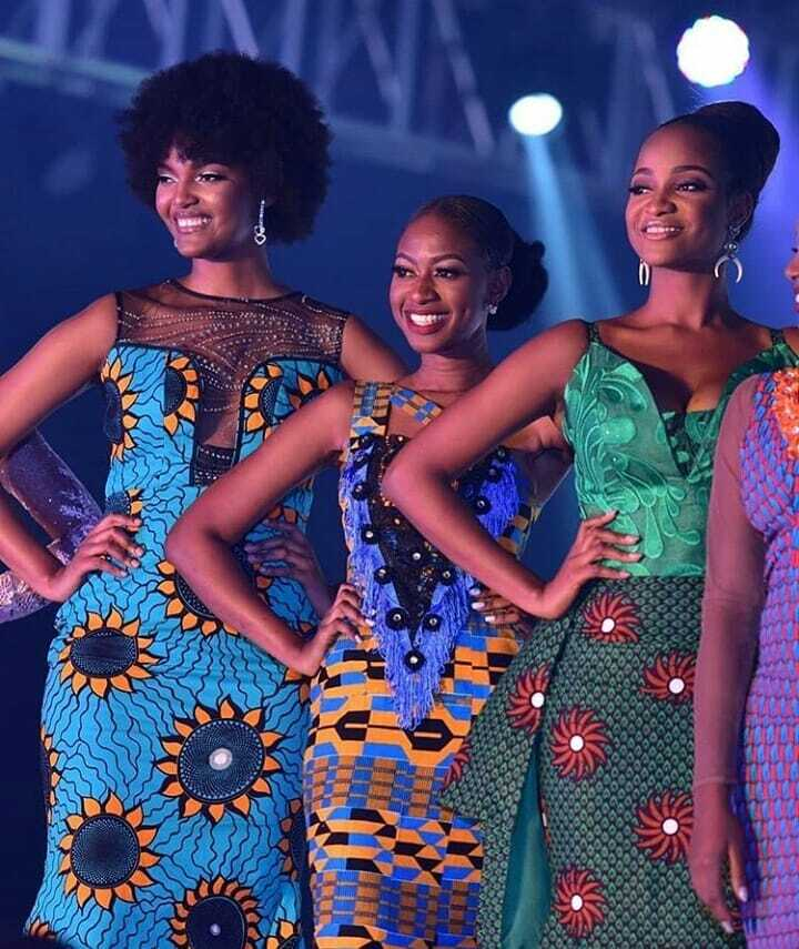 Miss Africa 2019 with fellow contestants