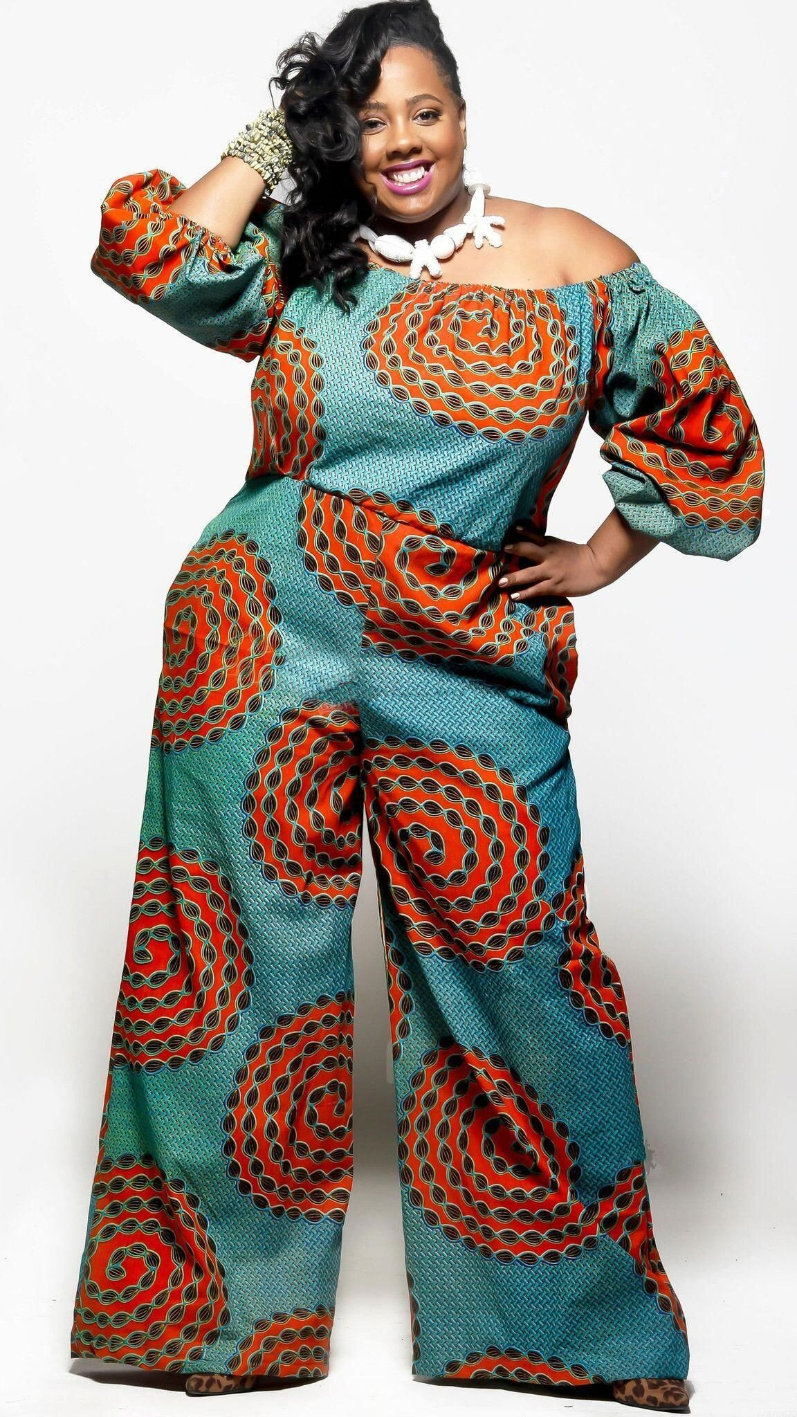 Flared pant Ankara Jumpsuit for plus size