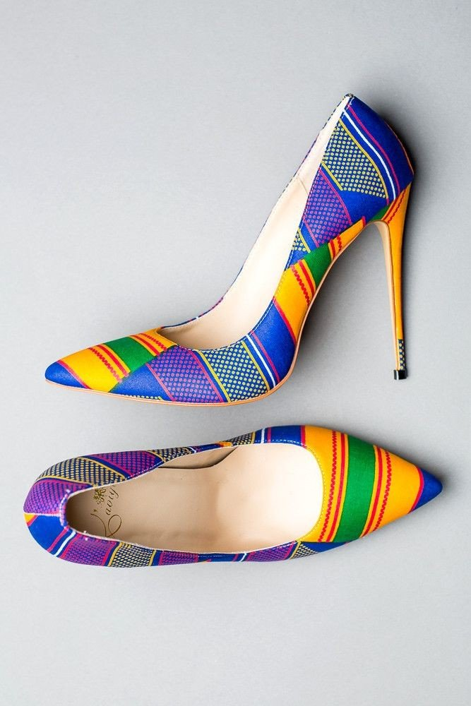 African Print Shoes For Women