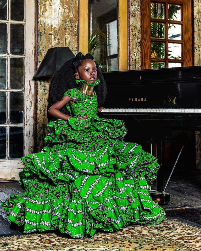 Claude Kameni Features Child model Mylah in New Campaign