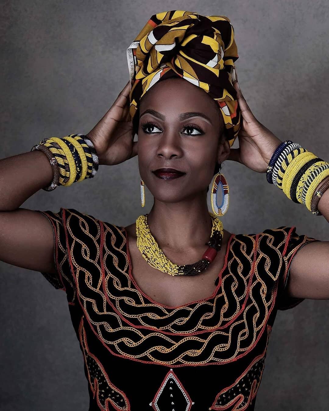 Colourful Cameroon Fashion Dress