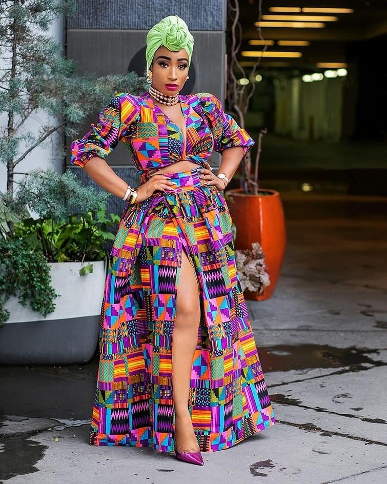 D'Iyanu African Print Skirt and Crop Top