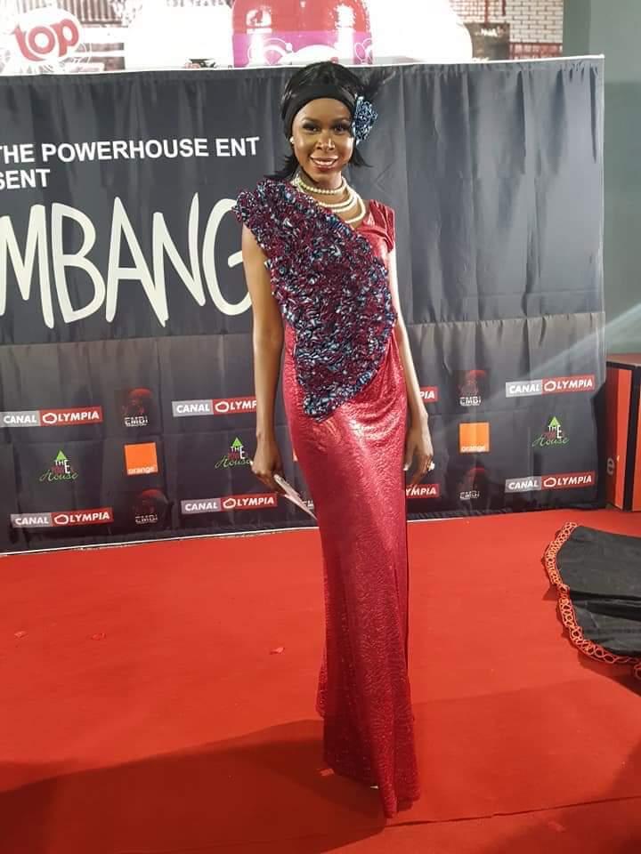 Saving Mbango red carpet