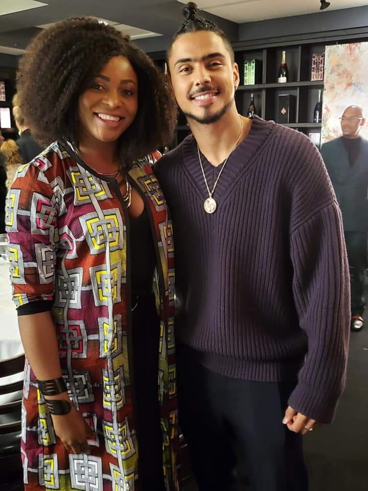 Quincy Brown and Sonya Mofor