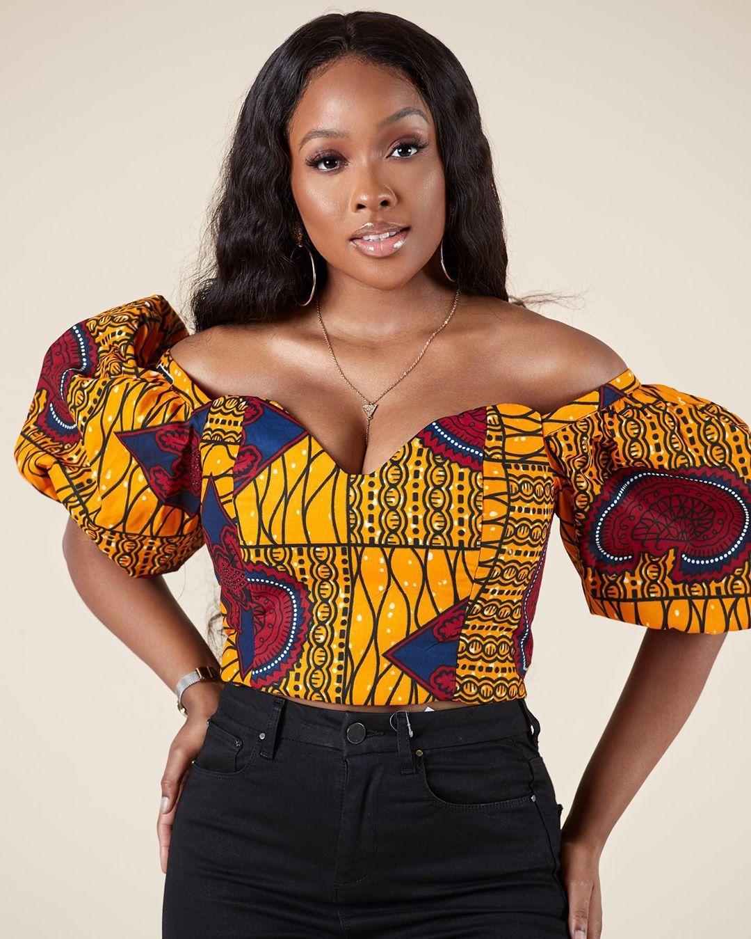African print Crop Top