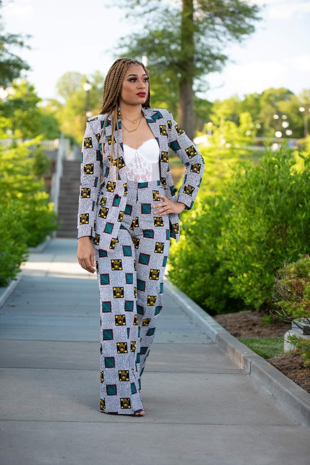 Stephanie Tum Ankara Suit